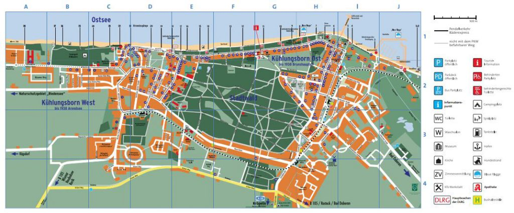 Stadtplan Kühlungsborn